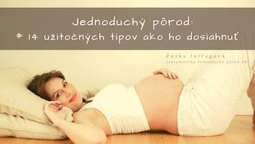 Stiahnite si moju e-knihu: Jednoduchý pôrod – 14 užitočných tipov ako ho dosiahnuť Chcete vedieť, čo vás pri pôrode čaká a byť jednoducho pripravené na príchod vášho dieťatka? Túžite po pôrode, na ktorý môžete s radosťou spomínať? Želáte si pôrod, ktorý vás posilní a dodá energiu do krásnych, ale aj náročných dní rodičovstva?  Výborne, táto kniha je určená práve vám. Čo sa v nej dozviete: -Čo môžete pre jednoduchý pôrod spraviť pred dňom D a počas neho. -Prečo je výber miesta pôrodu taký dôležitý. -Užitočné tipy na úľavu počas tehotenstva aj samotného pôrodu a mnoho iného ♥
